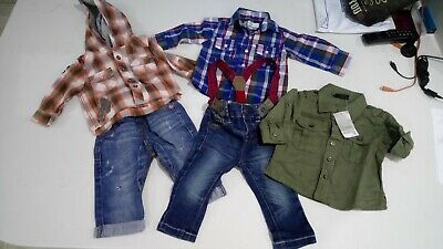 Cute Baby Boys Next Jeans & Shirts Aged 3-6 Months