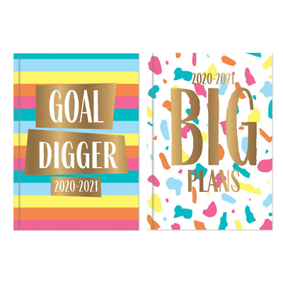 2020-2021 A5 Academic Diary Week to View HB Case bound Mid Year Student Diary