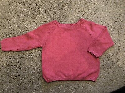 M&S Marks And Spencer Pink Baby Jumper Boys Girls Unisex 6-9