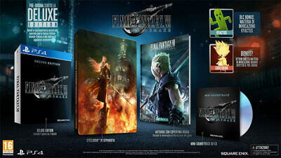 PS4 Final Fantasy VII Remake Limited Deluxe Edition Steelbook Artbook Soundtrack