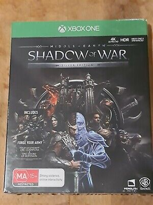 Brand New Sealed Steel Case Middle-Earth Shadow of War Silver Edition Xbox One
