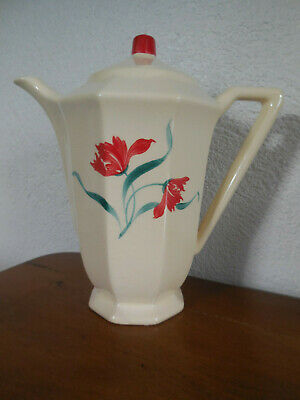Cafetiere Ancienne Digoin Sarreguemines  Decor  Coquelicots / Old Coffee Pot