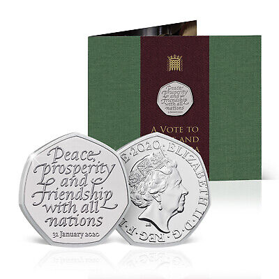 2020  Brexit Coin Royal Mint Presentation Sealed Packet