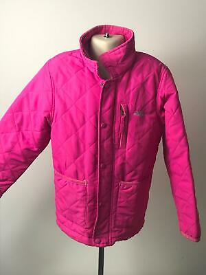 Girls Trespass Pink Quilted Lightweight Coat Jacket Kids Age 5-6 Years