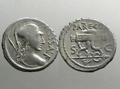 VALERIA 13 SILVER DENARIUS___Roman Republic_________VERY RARE COIN OF MASSALLA