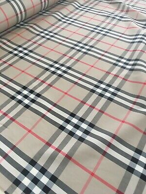 100% Cotton Burberry Material Fabric
