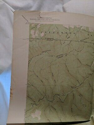 USC&GS,USGS, TVA Quadrangle Map Of Laurel Bloomery Tennessee-VA 1938 Edition