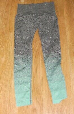 Grey and Green Leggings Workout size 10-12