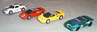 MICRO SCALEXTRIC CARS, JAGUARS and PORSCHE BOXTER.