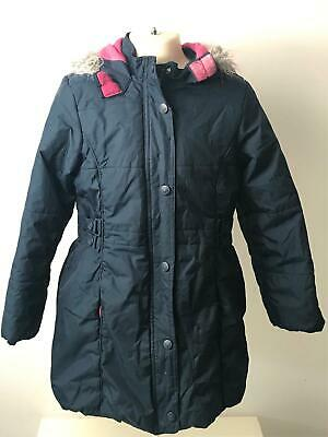 Girls Sweet Millie Navy Hooded Warm Winter Coat Jacket Kids Age 10 Years
