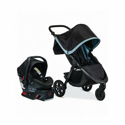 Britax B-Free & B-Safe Ultra TRAVEL SYSTEM--Stroller/Seat Combo FROST $159- #265