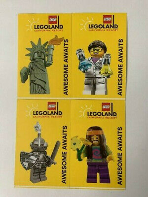 4 x California Legoland & Sea Life Aquarium Park Hopper Buddy Pass