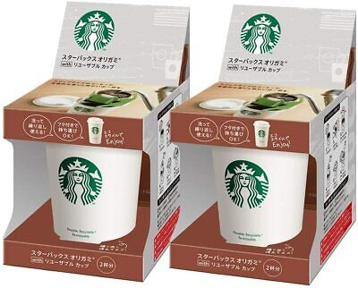 Starbucks Nestle Origami Personal drip coffee Blend with Reusable Cup 2 Boxes