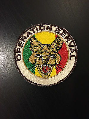 Pucelle Militaire Insigne D'epaule Patch Operation Serval Mali Opex Militaria