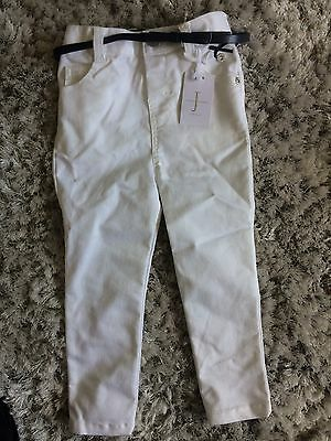 Jasper Conran White Belted Trousers 2-3