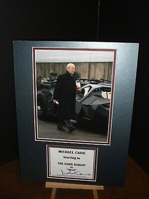 MICHAEL CAINE Batman -The Dark Knight Genuine Authentic Signed Autograph Display