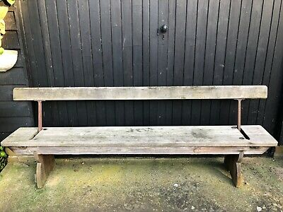 Antique Early 20th Century Reversible Train Platform Railway Tram Bench
