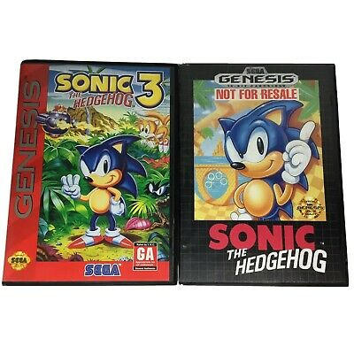 Sonic the Hedgehog 1 & 3 SEGA GENESIS Video Games Tested w/ Cases Not For Resale