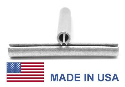 3/16 x 1 1/4 Roll Pin / Spring Pin - USA Medium Carbon Steel Mechanical Zinc