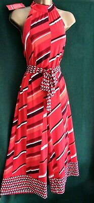 New MONSOON Red GINA Uk 10 16 Striped StretchJersey Playsuit Jumpsuit All-in-One