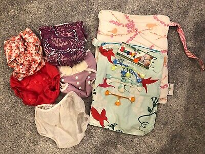 Bundle Of 4 Cloth Diaper Covers, Wet Bags, Snappi's Lot! Rumparooz, BumGenius