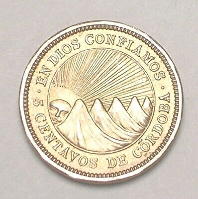 FREE SHIPPING Old Nicaragua Coin Lot 16 Excellent Large 5 Cordoba Coins