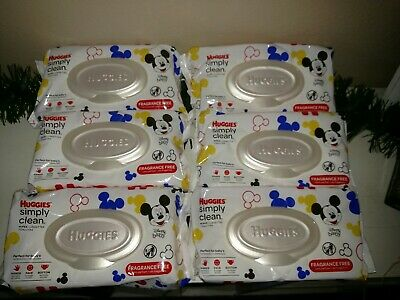 HUGGIES Simply Clean Baby Wipes, 6 Pack x 64 = 384 total Sheets Total In STOCK