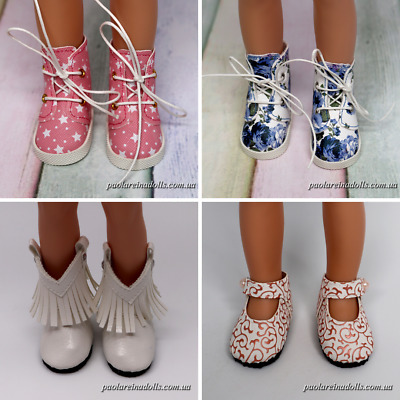 Handmade 4 Pairs of Shoes for 13 inches Paola Reina dolls, Corolle Les Cheries