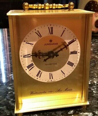 Junghans Brass Chime Clock Westminster Ave Maria