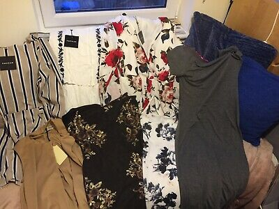 Job Lot Bulk Dresses, Playsuits, Tops, Size 14 New With Tags Evening And Party