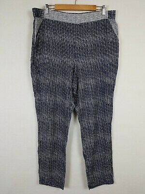 Cabi Womens Size XL Strand Pants 5109 Pull On Lightweight Casual Navy Blue White