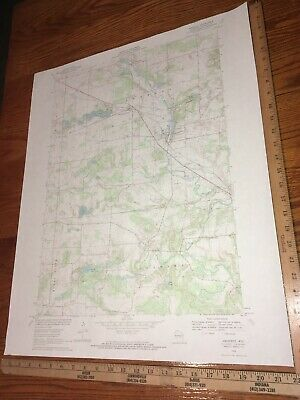 "Amherst WI. Portage Co.1969 USGS Topographical Geological Quadrangle Map 22""x27"""