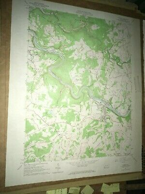Dawson Pa. Fayette County USGS Topographical Geological Survey Quadrangle Map