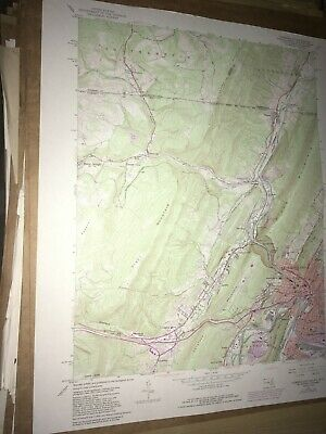 Cumberland MD PA Allegany Co USGS Topographical Geological Survey Quadrangle Map