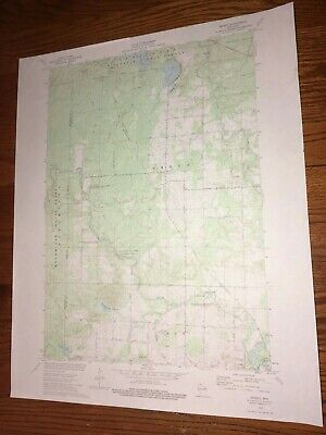 """Breed WI. 1973 USGS Topographical Geological Quadrangle Map 22""""w x 27""""h"""