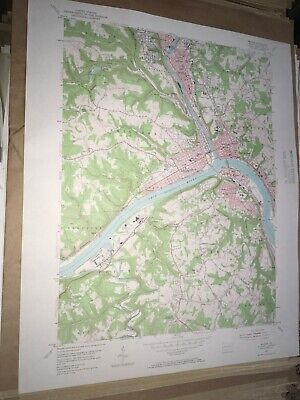 Beaver PA Beaver County USGS Topographical Geological Survey Quadrangle Old Map