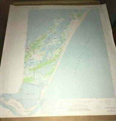 Chincoteague East, VA  USGS Topographical Geological Quadrangle Topo Map