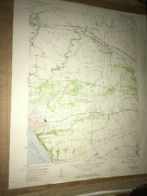 Columbia PA Lancaster Co. USGS Topographical Geological Survey Quadrangle Map
