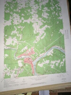 Franklin PA Venango County USGS Topographical Geological Quadrangle Topo Map
