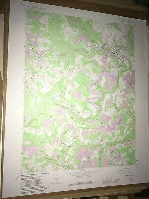 Curwensville Pa. Clearfield USGS Topographical Geological Survey Quadrangle Map
