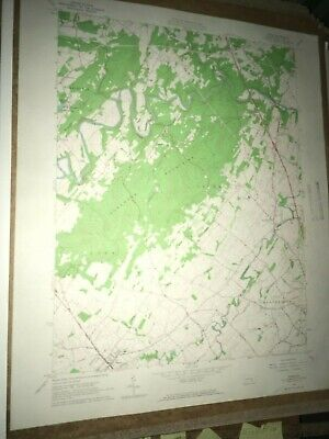 Dover PA York County Old USGS Topographical Geological Survey Quadrangle Map