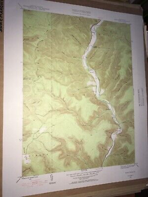 First Fork PA Grove Township USGS Topographical Geological Quadrangle Topo Map