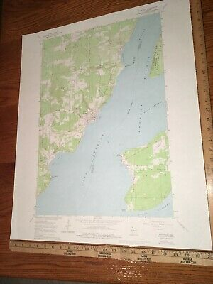 "Bayfield WI. 1975 USGS Topographical Geological Quadrangle Map 22""x27"""