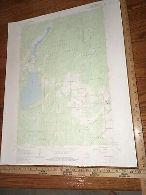 """Argonne WI. Forest Co.1965 USGS Topographical Geological Quadrangle Map 22""""x27"""""""