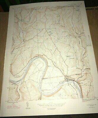 Laceyville PA Wyoming County USGS Topographical Geological Quadrangle Topo Map