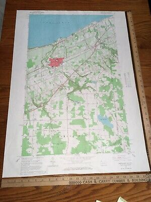 North East PA 1960 USGS Topographical Geological Quadrangle Topo Map