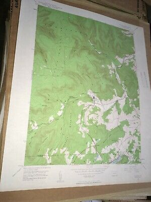 Noxen PA Wyoming County USGS Topographical Geological Quadrangle Topo Map