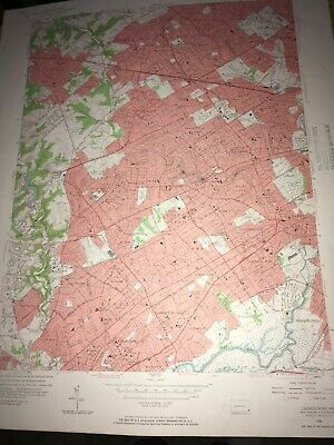 Lansdowne PA Delaware County Old USGS Topographical Geological Quadrangle Map