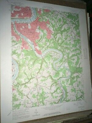 Mckeesport PA. Allegheny Co USGS Topographical Geological Survey Quadrangle Map