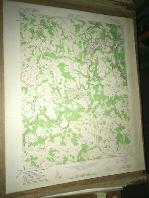 Mather PA Greene Co. Old USGS Topographical Geological Survey Quadrangle Map